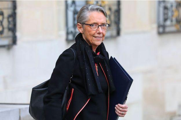 Elisabeth Borne à l'Elysée, le 19 décembre.