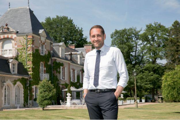 Jean-Philippe Cartier, le patron de H8 Collection, dans son domaine hôtelier Les Hauts de Loire.