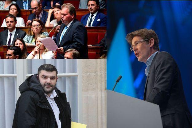 Le député Jean-Baptiste Moreau, les eurodéputés Pascal Canfin et Jérémy Decerle.