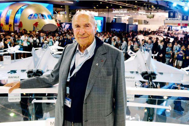 Serge Dassault au Salon du Bourget, en juin 2017.