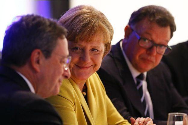Mario Draghi et Angela Merkel.