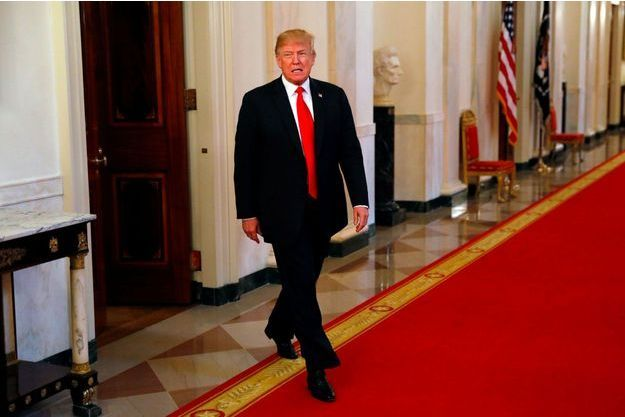 Donald Trump à la Maison-Blanche, jeudi.