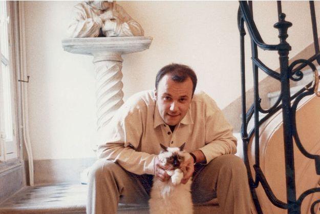Bruce Allet, chez lui, en 1996, à l'époque faste de Conserver 21.