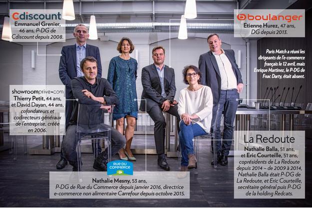 Paris Match a réuni les dirigeants de l'e-commerce français le 12 avril, mais Enrique Martinez, le P-DG de Fnac Darty était absent.