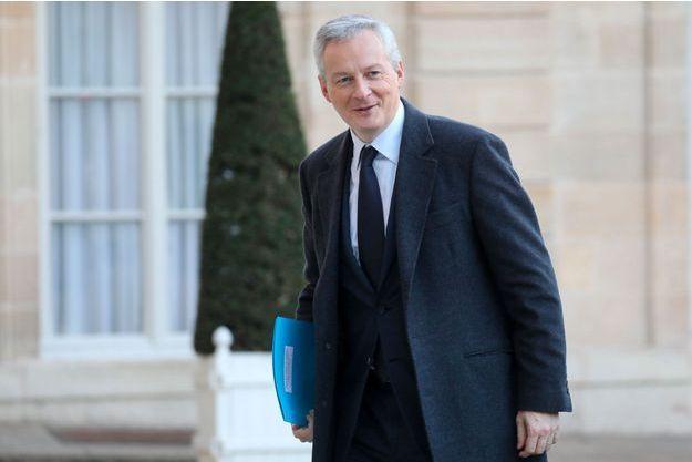 Bruno Le Maire arrive à l'Elysée le 12 décembre.