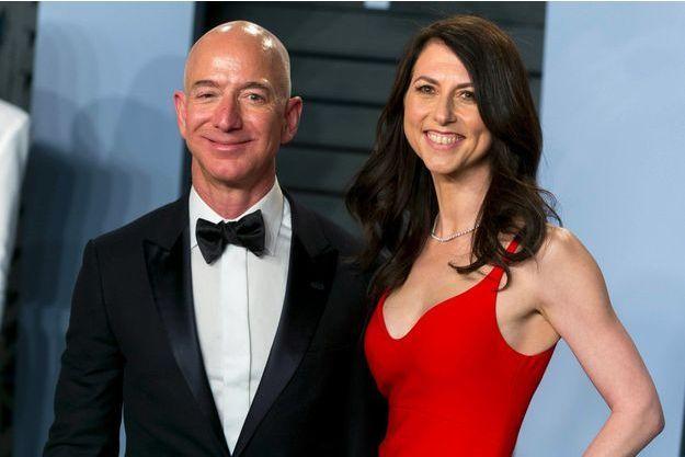 Jeff et MacKenzie Bezos, en mars 2018 à Los Angeles.