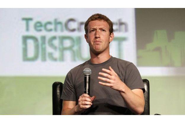 Mark Zuckerberg mardi soir au TechCrunch Disrupt.