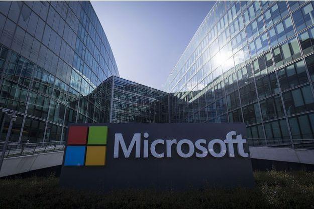 Le siège parisien de Microsoft, en avril dernier.
