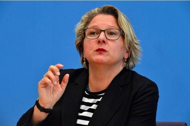 La ministre allemande de l'Environnement, Svenja Schulze, sociale-démocrate, doit porter la ligne pro-industriels de la coalition dominée par les conservateurs.