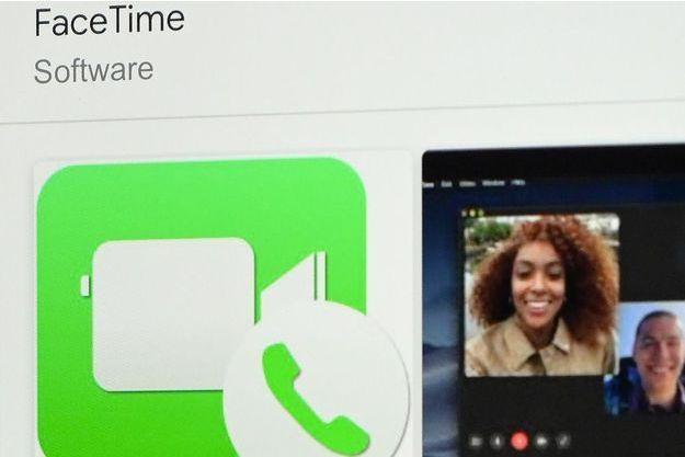FaceTime, l'application d'appels vidéo d'Apple.