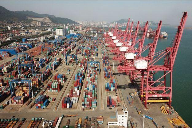 Port de Lianyungang en Chine.
