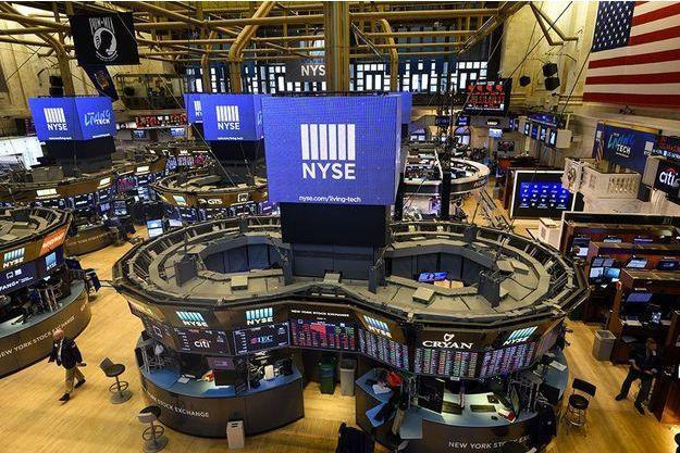 Le New York Stock Exchange, mercredi.