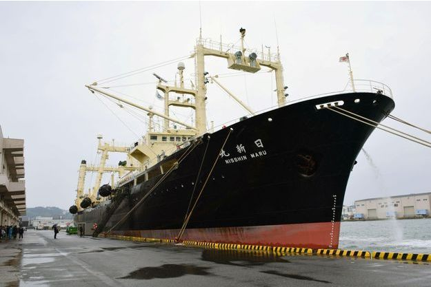 Le Nisshin Maru, le navire principal de la flotte des baleiniers japonais.