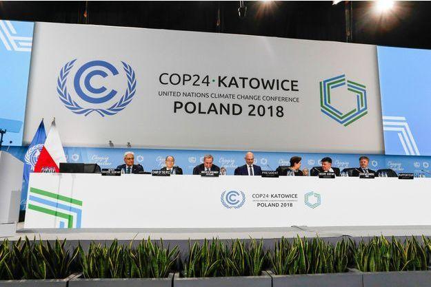 Lors des négociations climatiques ce mois de décembre à Katowice.