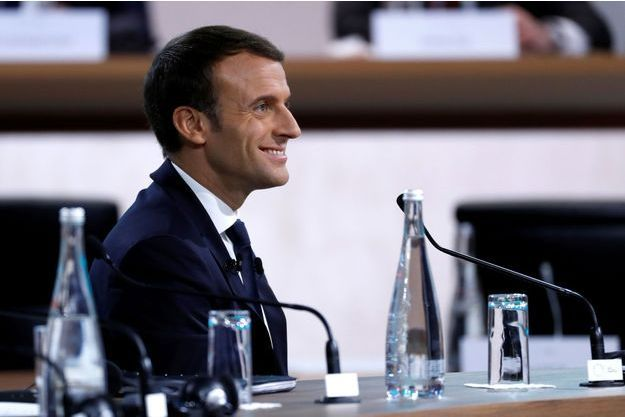 Emmanuel Macron mardi au One Planet Summit.