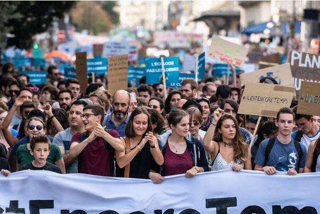 Une précédente Marche pour le climat le 13 octobre dernier à Paris.