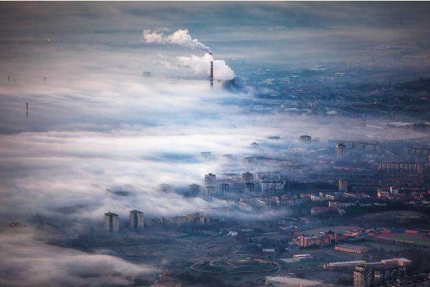 Illustration de la pollution urbaine.