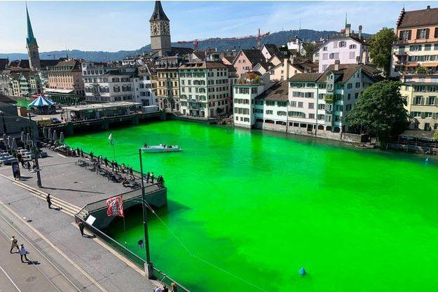 La rivière Limmat à Zurich.