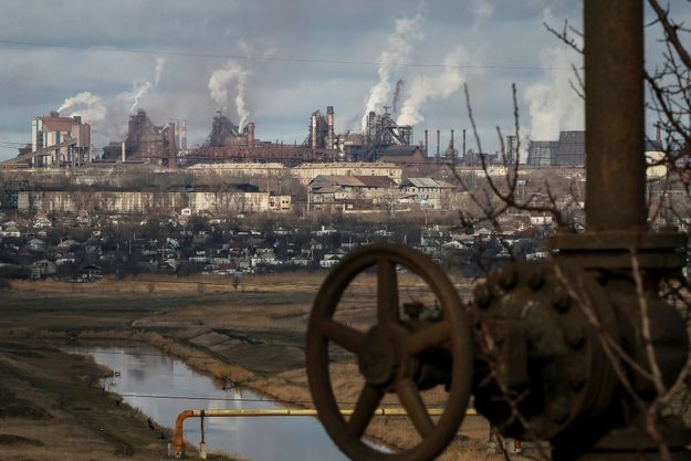 La zone industrielle de Marioupol en Ukraine.