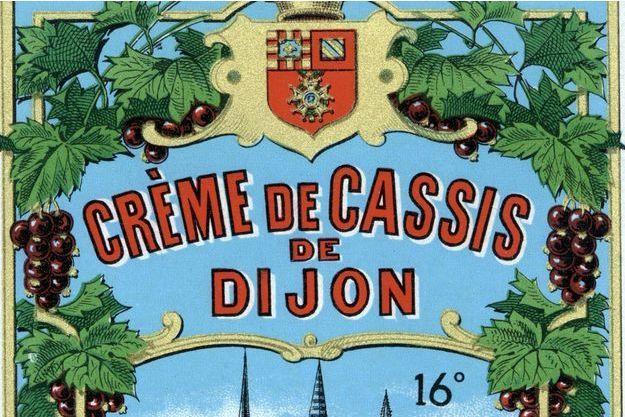 Une étiquette de crème de Cassis de Dijon (photo d'illustration)