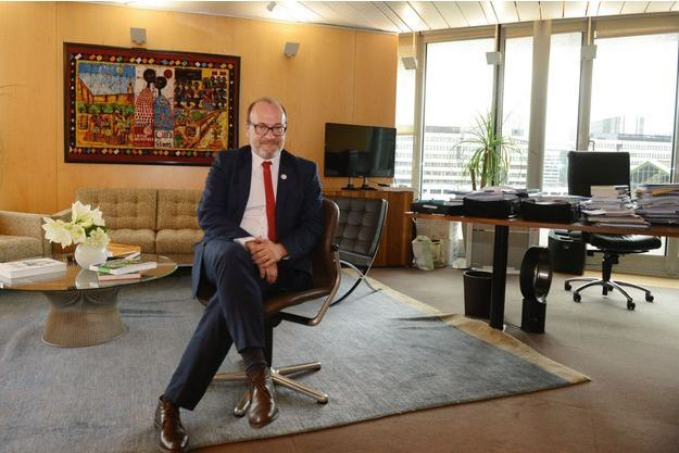 Rémy Rioux, directeur de l'AFD, dans les locaux du siège, à Paris, en novembre 2018.