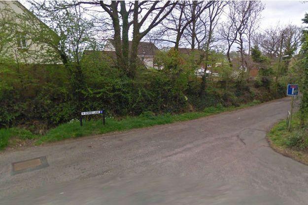 Marley Road, où l'attaque aurait eu lieu, à Exmouth, en Angleterre