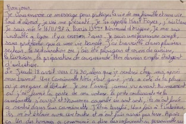 La lettre de confession de Karl F.