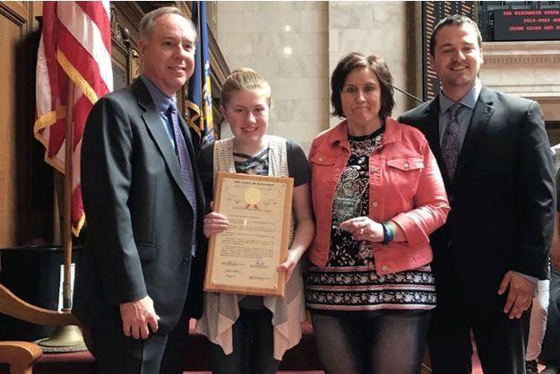 Jayme Closs a été honorée pour son courage.