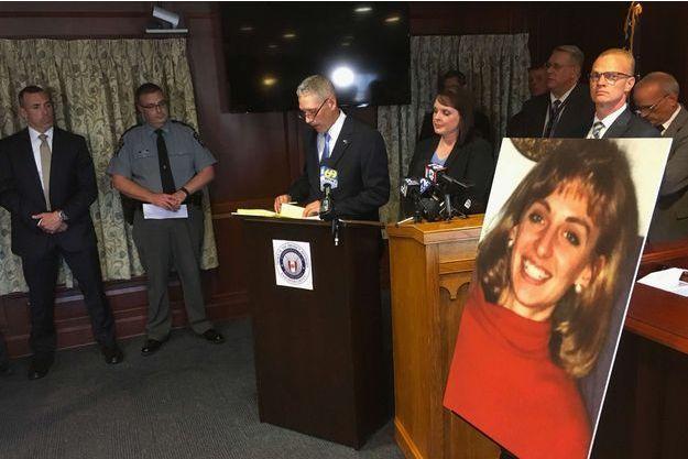 Le procureur en conférence de presse en juin dernier après l'arrestation du suspect.