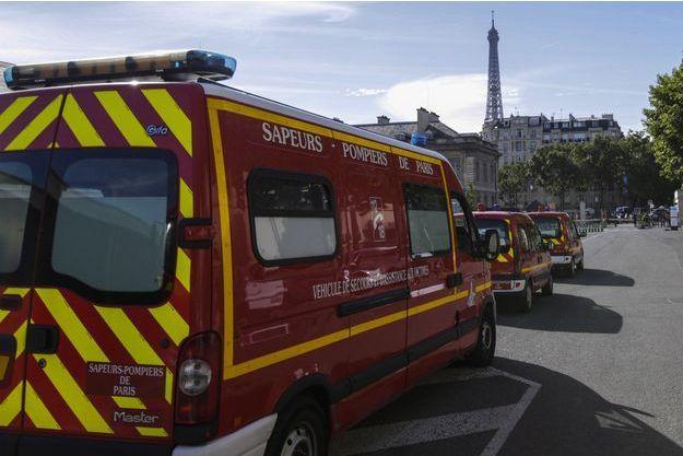 Illustration d'un camion des sapeurs-pompiers de Paris.