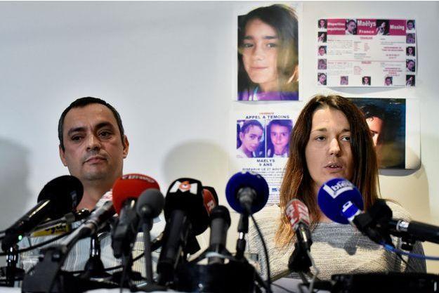 Les parents de la petite Maëlys, en septembre dernier lors d'une conférence de presse.
