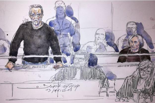 Michel Fourniret à son procès devant la cour d'assises des Yvelines.