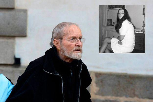 Maurice Agnelet arrive au tribunal le 11 avril 2014 pour son verdict. En médaillon, Quelques semaines avant sa disparition, Agnès Le Roux tente à deux reprises de se suicider. « Elle était en larmes, elle avait des traces de coups et d'hématomes sur les épaules », se souvient sa soeur Patricia.