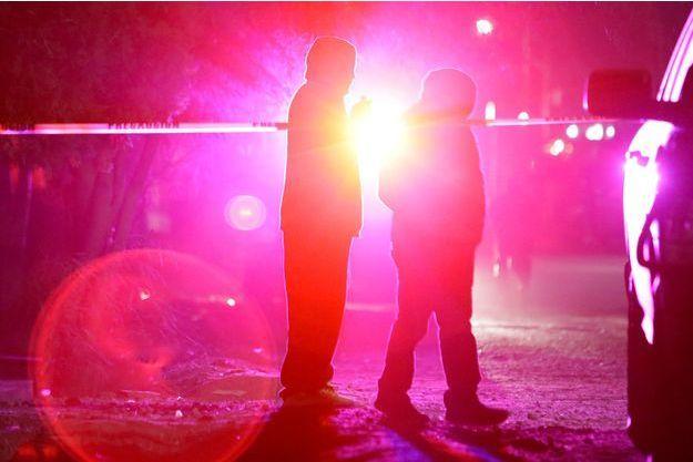 Des personnes non loin d'une scène de crime au Mexique (image d'illustration).