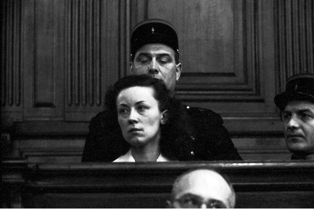 Pauline Dubuisson, lors de son procès en 1953.