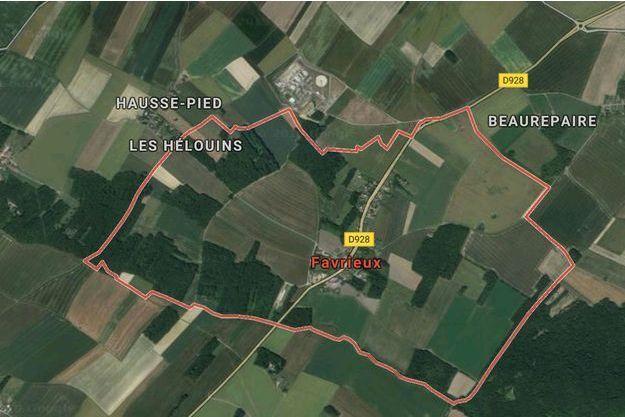 Vue satellite de Favrieux.