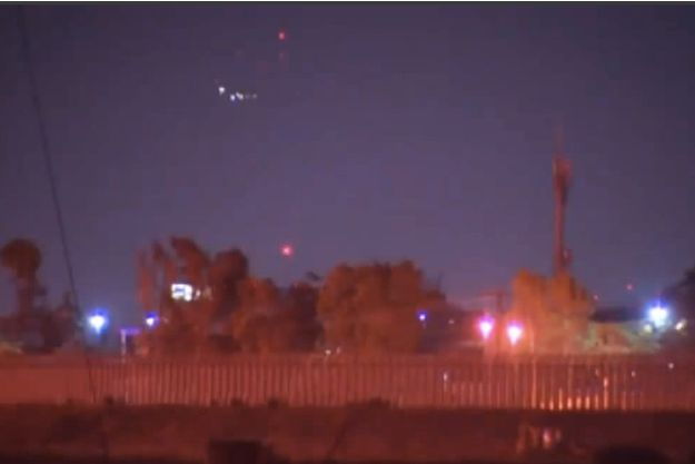 Une image des lumières de San Yedro filmée par une équipe de la chaîne NBC.