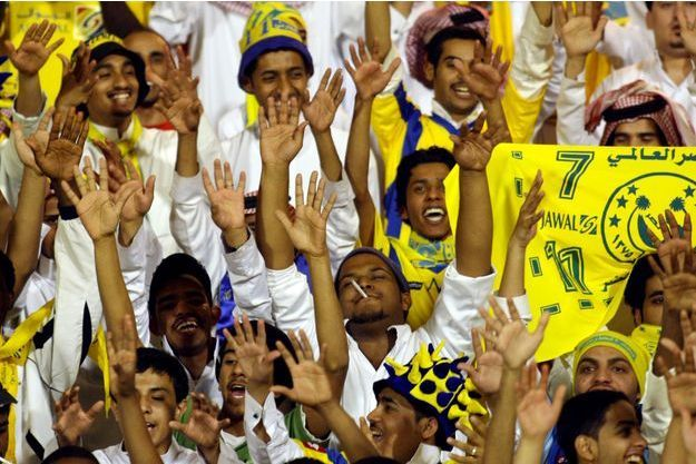Des supporters du club d'Al-Nasr en 2008.