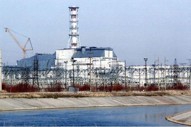 Le réacteur 4 de Tchernobyl en 1996.