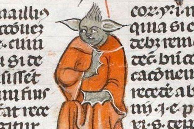 Le monstre médiéval qui ressemble à Yoda se trouve dans Medieval Monsters, un livre écrit par Damien Kempf et Maria L. Gilbert.