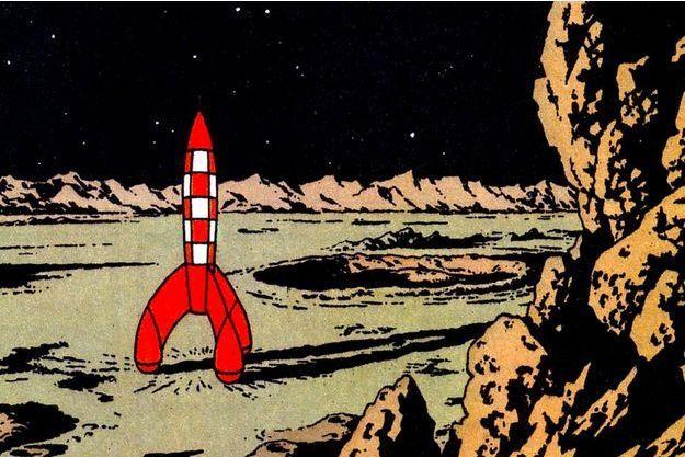 """La fusée de l'album """"On a marché sur la lune"""""""