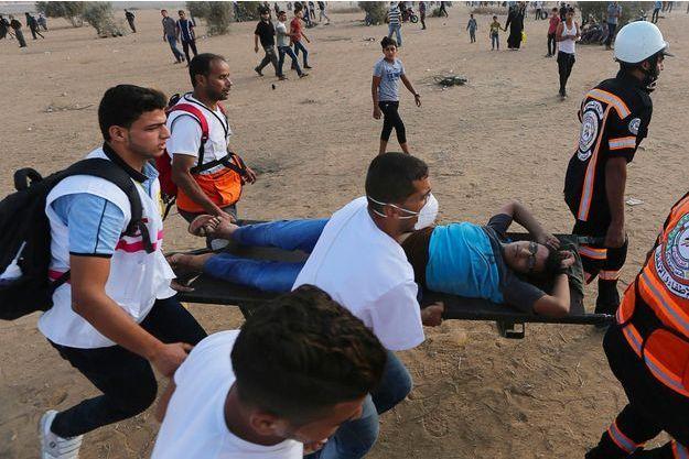 Six Palestiniens ont été tués dans la bande de Gaza, le 12 octobre 2018.