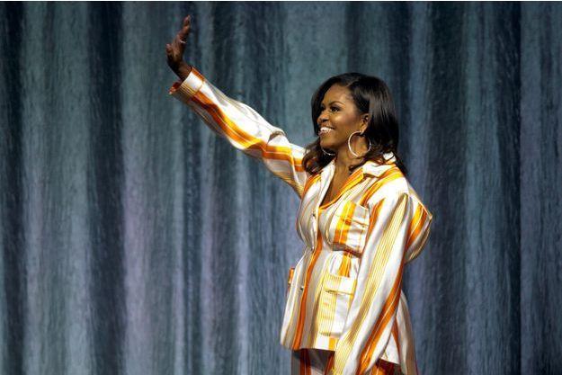 Michelle Obama mardi soir à l'AccordHotel Arena de Paris.