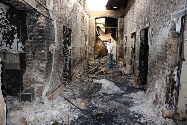 Les décombres de hôpital de Kunduz quelques jours après le bombardement du 3 octobre.