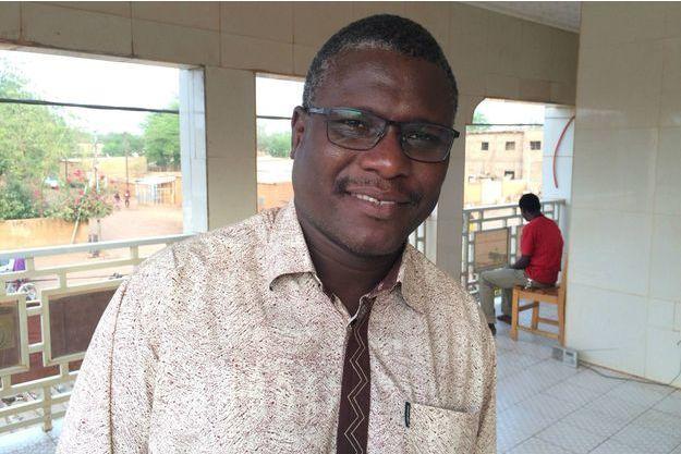 Ali Idrissa dans les locaux de Labari TV à Niamey, le 28 février 2016