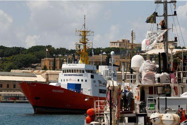 Le navire humanitaire Aquarius.