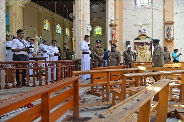 Une des églises visées par une attaque terroriste, dimanche au Sri Lanka.