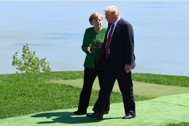 Angela Merkel et Donald Trump à La Malbaie, au Québec, le 8 juin dernier.