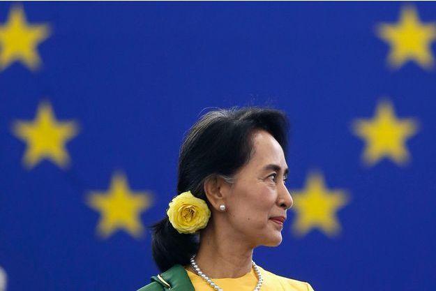 Aung Sang Suu Kyi au Parlement européen.