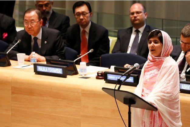Malala a prononcé un discours ce vendredi aux Nations unies.